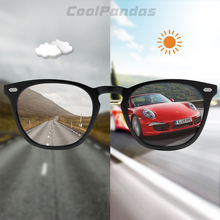 Brand Design Intelligent Photochromic Sunglasses Women Polarized Men Driving  Sun Glasses Pink Tinted color lunette soleil femme
