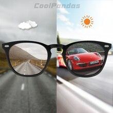 מותג עיצוב אינטליגנטי Photochromic משקפי שמש נשים גברים מקוטבים נהיגה משקפיים שמש ורוד כהה צבע lunette soleil femme