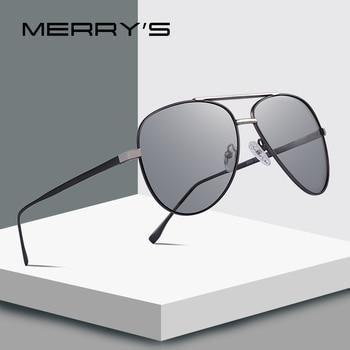 655732e656 MERRYS diseño hombres clásico piloto gafas de sol polarizadas Photochromism  lente camaleón gafas de sol de conducir 100% de protección UV S8178