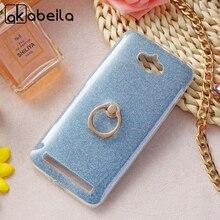 AKABEILA Phone Cover Case For ASUS Zenfone MAX Z010DD Z010D ZC550KL Z010DA 5.5 inch Case Finger Ring Glitter Silicone Cover Bags