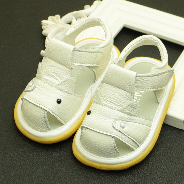 39eb06bf1 Free shipping baby cattle genuine leather sandals male children child shoes  baby sandals beach boys sandal