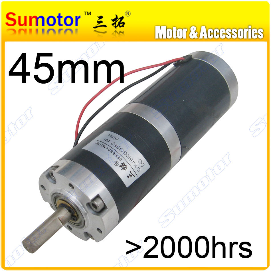GX45 D=45mm 12V 24V low speed DC Planetary geared motor DC brushed motor long life-span big torque Planetary gear box for Milker цена