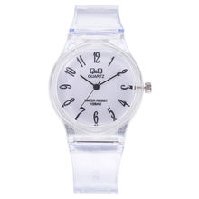 2019 Best Selling Lady Wristwatches Transparent QQ Watch Student Harajuku Watch Pure Color Delicate Carry relojes para mujer %A(China)