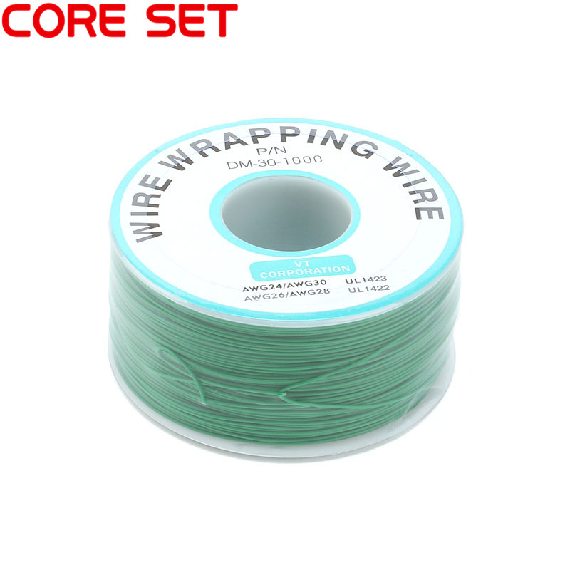250 м/лот 30 AWG оберточный провод 10 цветов одножильный медный кабель Ok провод электрический провод для ноутбука Материнская плата PCB припой - Цвет: Green