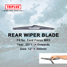 Rear Wiper Blade for Ford Focus MK3 (2011-Onwards) 1pc 12″ 300mm,Car Rear Windscreen Wipers,Back Window Windshield Wiper Blades
