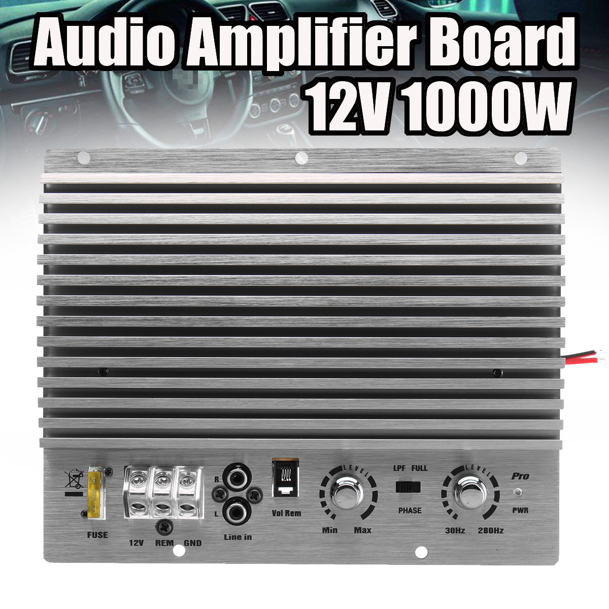 1000W 12V Mono Car Audio High Power Amplifier Board Powerful Bass Subwoofer Amp 213mmx173mm 150w pure tone bass amplifier board high power 12v toshiba 8 12 inch subwoofer core tube vehicle
