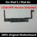 Oficial mãe original desbloqueado para ipad 5 ipad air 32 gb versão wi-fi com fichas completas placa lógica mainboard ios em todo o mundo