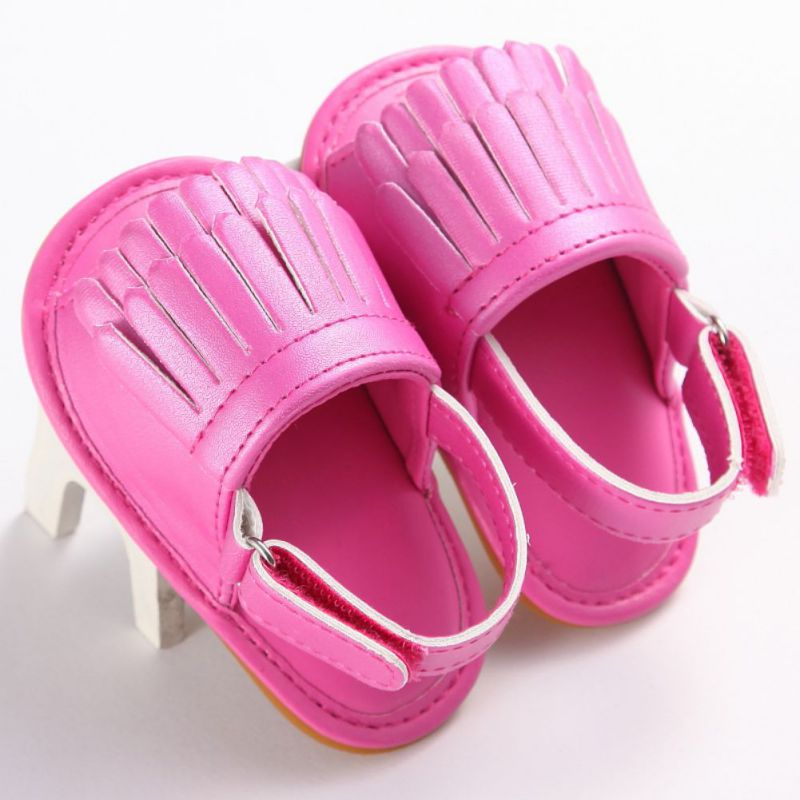 Summer Hot Sale PU Tassel Clogs Baby Sandals Leisure Fashion Baby Girls Sandals of Children Shoes 16-Colors