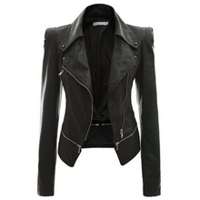 4 Colors Leather Jacket Women Autumn Winter New Design Locomotive Coat Long Sleeve Lapel Collar Slim Zipper Fashion