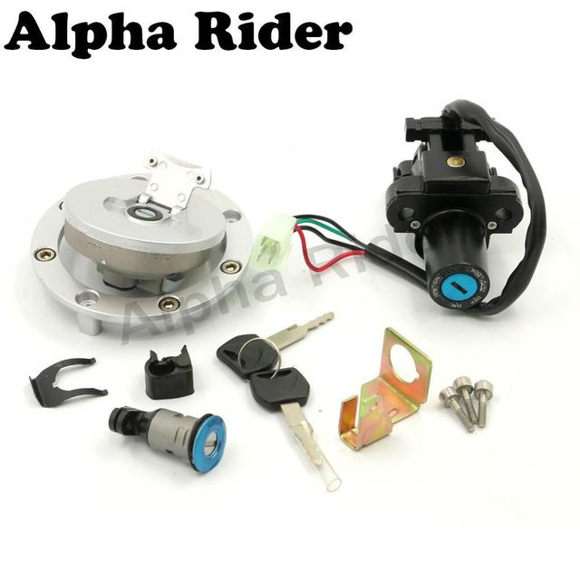 Motorcycle Ignition Switch Seat Lock Fuel Gas Cap Tank Cover Key Set