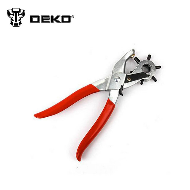 DEKO New High-quality Punch Pliers Galvanization Dip Handle Leather Hole Hand Pliers Belt Holes Punches