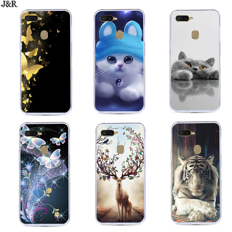 A5S Case For OPPO AX5S Silicone TPU Cover Cute Phone Cases For OPPO A5S CPH1909 CPH 1909 OPPOAX5S OPPOA5S Back Covers Soft
