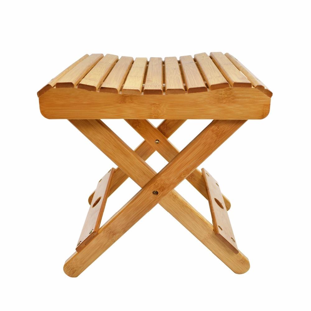 cyanbamboo bamb plegable taburete de madera home living muebles taburete de bao a prueba de agua para nios ducha adultos hece