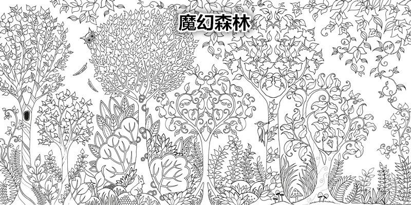 Original English Enchanted Forest Secret Garden Coloring Book Adult Children Relieve Stress Graffiti Painting Drawing In Books From Office School