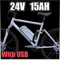 EU UNS Freies Gewohnheiten Steuer Elektrische Fahrrad Batterie 24 v 15ah Unten flasche Lithium ionen Akku 24 v Elektrische fahrrad batterie-in Elektrofahrrad Akku aus Sport und Unterhaltung bei