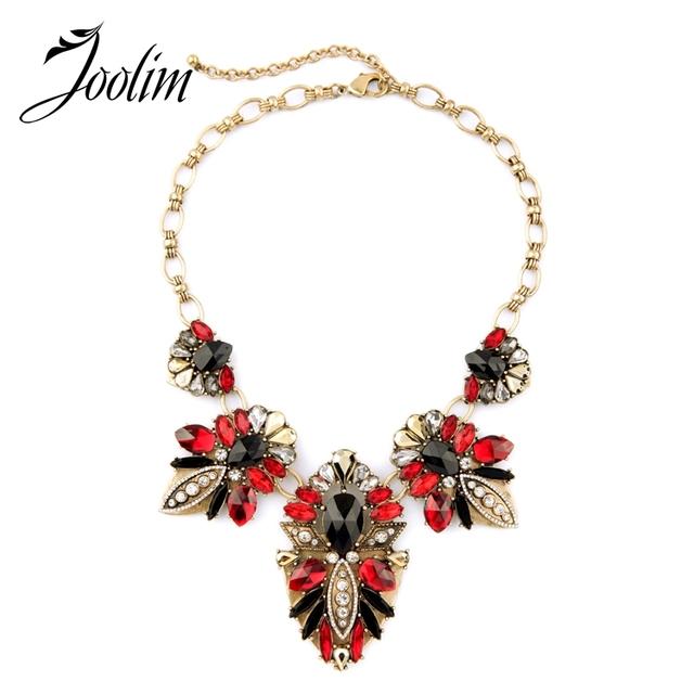 Joolim 2016 nueva red choker collar llamativo collar personalizado joyería de factoría la oferta de envío gratis