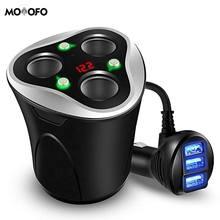 3 автомобильный прикуриватель сплиттер адаптер питания+ 3 USB переключатель автомобильного зарядного устройства для сотового телефона для панели, GPS Cam электронные устройства