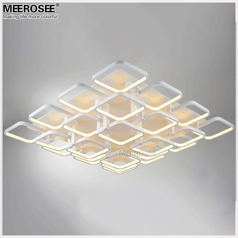 Vierkante LED Kroonluchter Verlichting Opbouw Wit Acryl LED Lamp Voor - Binnenverlichting