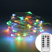 10m 100 LEDs Copper Wire AA Battery Powered String Fairy Light Decorative Lights For Halloween Christmas