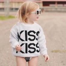 130d866861 Nuevos niños Ins suéter beso cartas de punto de algodón de los niños ropa  1-5 años suéter de bebé niño niña niños-Jersey