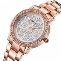 Brand New CRRJU Watches Women Fashion Design Flower Dial Quartz Watch Lady Stainless Steel Clock Top