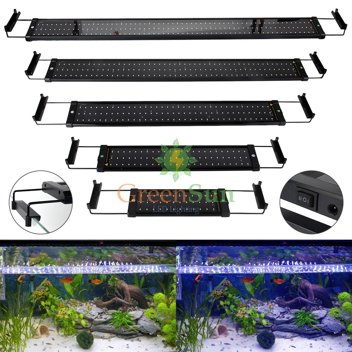 EU Plug Aquarium Fish Tank <font><b>Light</b></font> <font><b>LED</b></font> Fish Tank <font><b>light</b></font> Aquarium Decor Clip Lamp 6W 11W