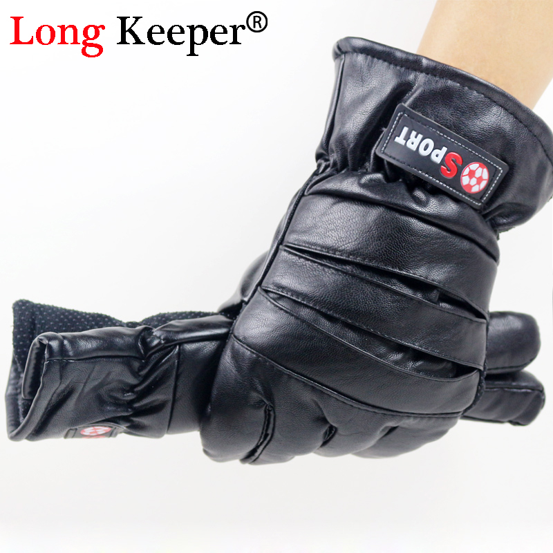 Lower Price with Long Keeper Men Gloves Leather Motorcycle Outdoor Guantes Touch Screen Gloves Waterproof Ski Winter Warm Eldiven G278 Convenient To Cook Apparel Accessories