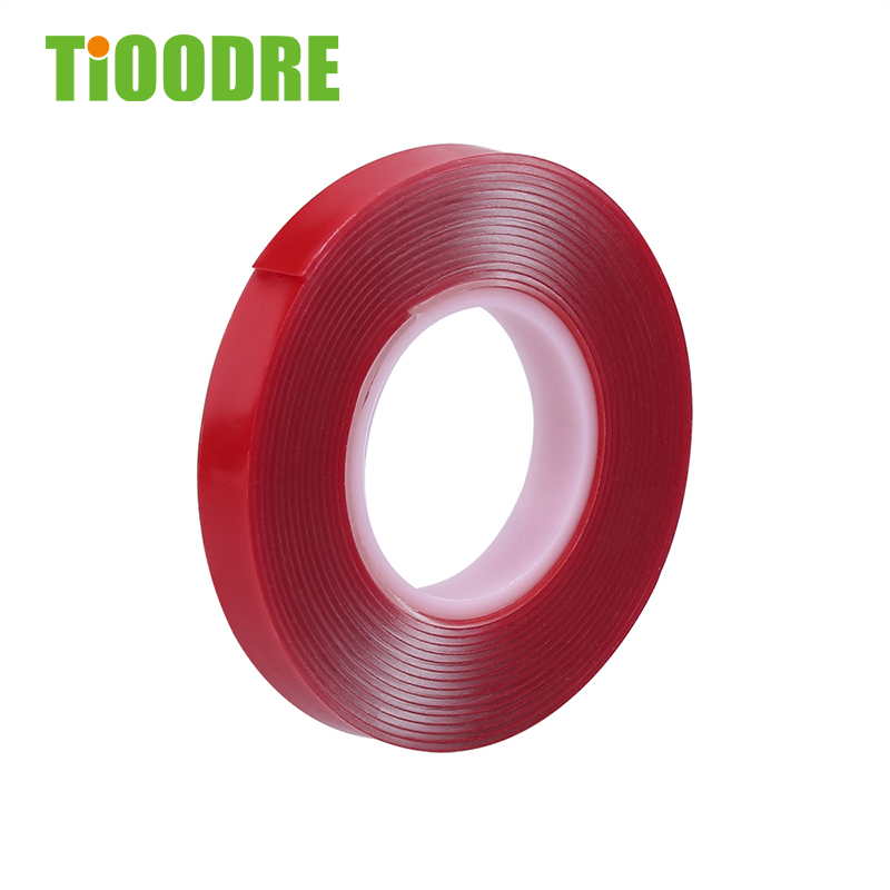 TiOODRE Heat Resistant Acrylic Self Adhesive Foam Tape 0.39'' 3 M Car Length Double-Sided Adhesive Multi-Functional Car Sticker