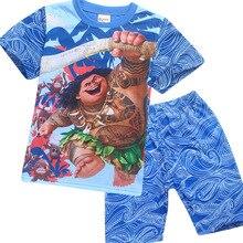 56c34328dbaca Bébé Filles Vêtements Ensembles Moana Maui Costume Enfant Garçons Vêtements  Ensemble Casual T-Shirts Enfants Sports Costumes 2 P..