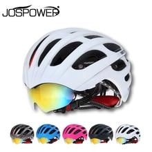 Basecamp Summer MTB Road Cycling Helmet Glasses Cover Bike Helmet 32 Vents Bicycle Helmets Goggles 3 Lens Ciclismo Casco