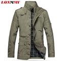 LONMMY M-5XL Primavera trench coat dos homens jaquetas para homens casaco jaqueta masculina jaqueta casual roupas masculinas casacos Finos 2016