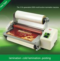 Nova geração 12 8350 laminador a3 + rolos laminador máquina de estratificação de rolo quente