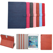 Wood Grain PU Leather Tablet Cover Case for New iPad 2017 Model A1822 Tablet Case Capa Para for 2017 New iPad 9.7
