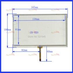 ZhiYuSun 7 cal 165mm * 100mm ekran dotykowy panel4 przewodowy rezystancyjny ZB 020 touchpad cztery zmiany osiem linii kompatybilny HLD TP 2080 w Ekrany LCD i panele do tabletów od Komputer i biuro na