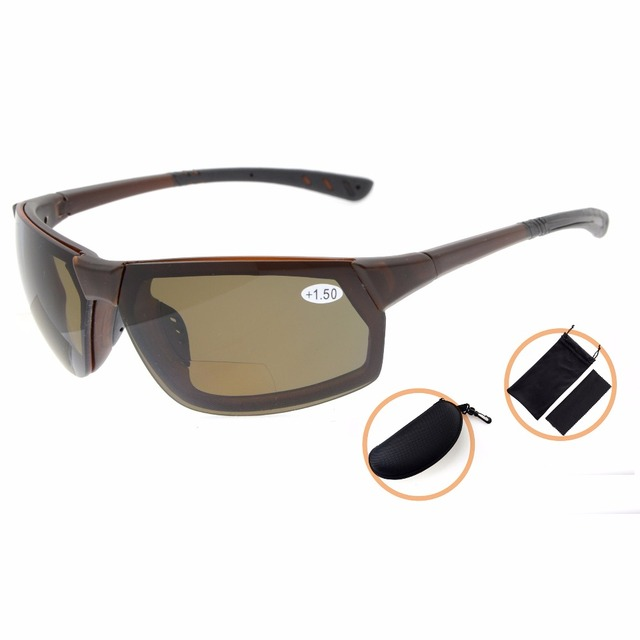 7641c0a2189ac TH6157PGSG Eyekepper TR90 Unbreakable Sports Sunglasses Polycarbonate  Polarized Bifocal Sunglasses
