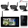 Cámara de vigilancia inalámbrica de trabajo con teléfono video de la puerta sistema de intercomunicación de vídeo