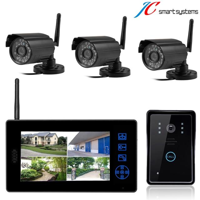 Wireless surveillance camera work with video door phone video intercom system