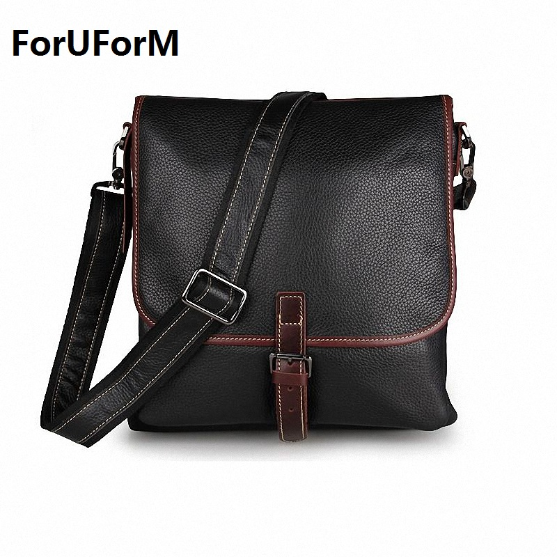 Fashion Men Bags 100% Genuine Leather Men Messenger Bags High Quality Brand Men's Shoulder Bag Business Bag Free Shipping LI-918 hot sale fashion men bags feger men genuine leather messenger bag high quality man brand business bag men shoulder bags