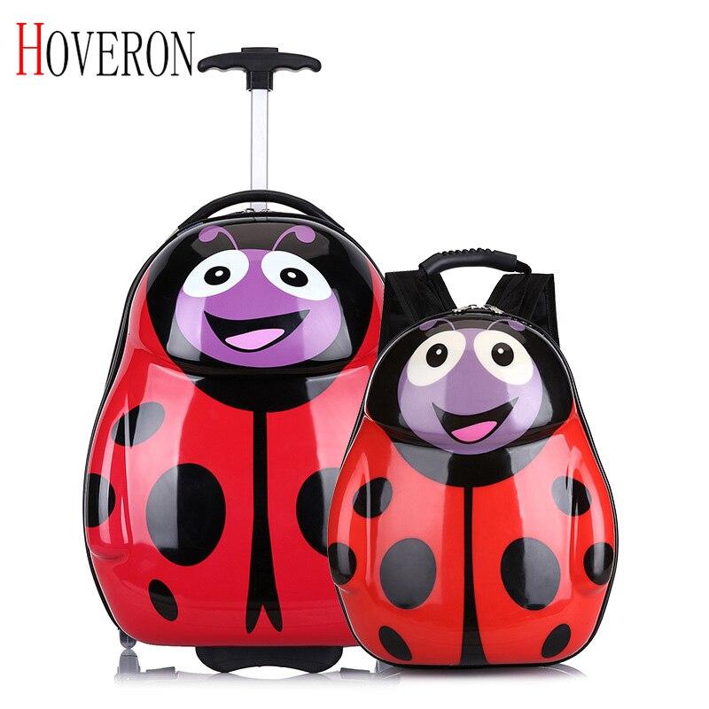 Bagaj ve Çantalar'ten Çek çek valizler'de Yeni çocuk seyahat arabası çantası bavul tekerlekli bavul çocuklar haddeleme bagaj bavul çocuk bavul seyahat çantası sırt çantası title=