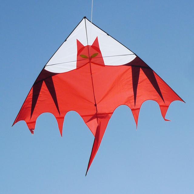 O envio gratuito de alta qualidade 2.5 m grande pipa morcego 5 pçs/lote com linha alavanca de controle fácil brinquedos ao ar livre preço de atacado wei pipas