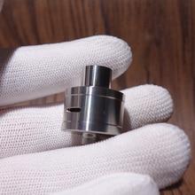 Coppervape royal atty db estilo rda 22mm rebuildable gotejamento atomizador prata com pino bf mini rda para squonk mod
