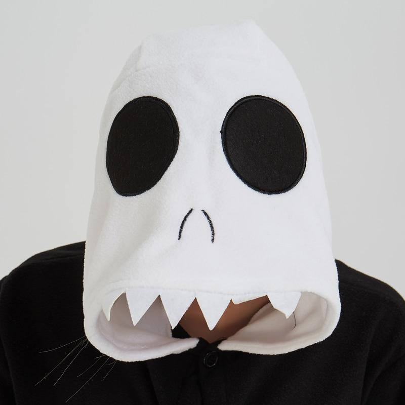 Skull Kigurumi Onesie Adult Women Scary Skeleton Pajamas Flannel Warm Loose Soft Sleepwear Onepiece Winter Jumpsuit Cosplay (6)