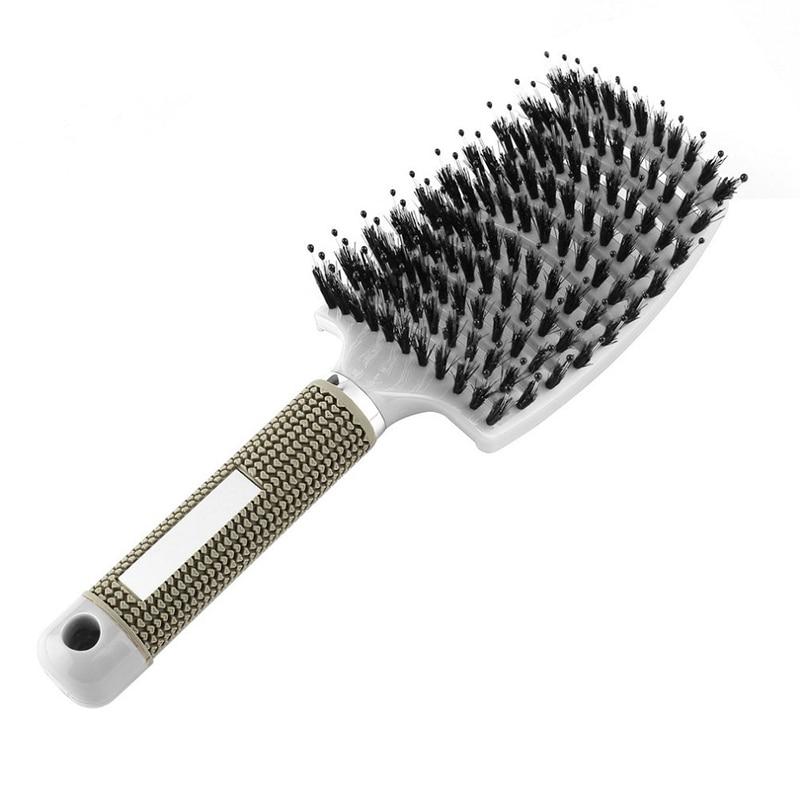 Hair Comb Scalp Massage Comb Hairbrush Bristle Nylon Women Wet Curly Detangle Hair Brush For Salon Hairdressing Styling Tools