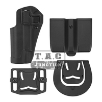 Tactical CQC Serpa Quick Left Hand Paddle Belt Loop Pistol Gun Holster with Magazine Pouch Mag Case for Colt 1911 M1911