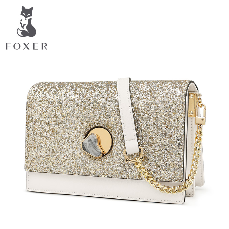 FOXER Luxury Crossbody Women Bags Classical Designer Lady Leather Bag Over Shoulder Small Women Flap Bags