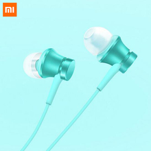 2017 Newes Original Xiaomi Mi Earphone Piston Fresh Version In-Ear 3.5mm Nickel-plated Jack with Mic For Mobile Phone