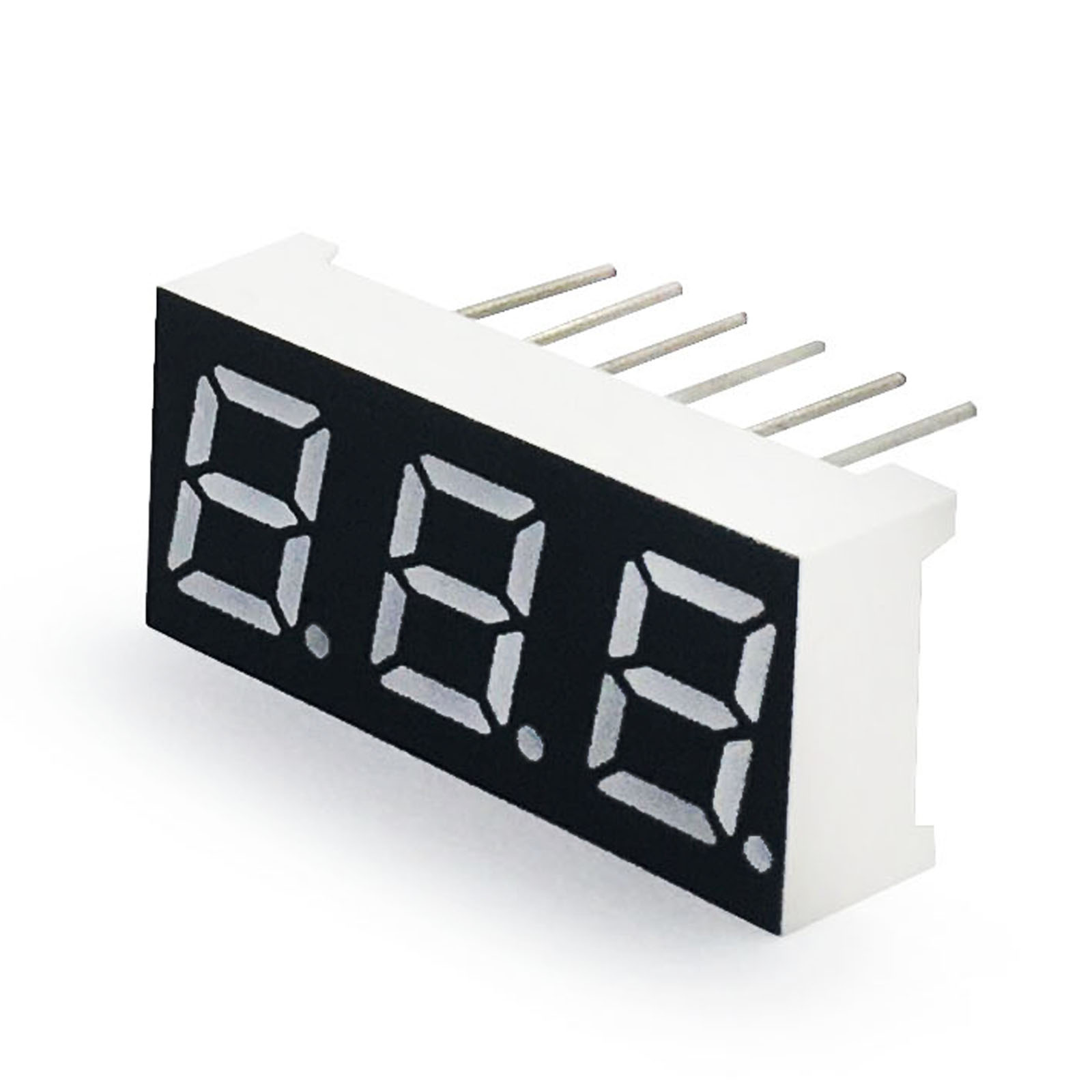 MCIGICM 100pcs 7 Segment Common Cathode 3 Bit Digital Tube 0.28