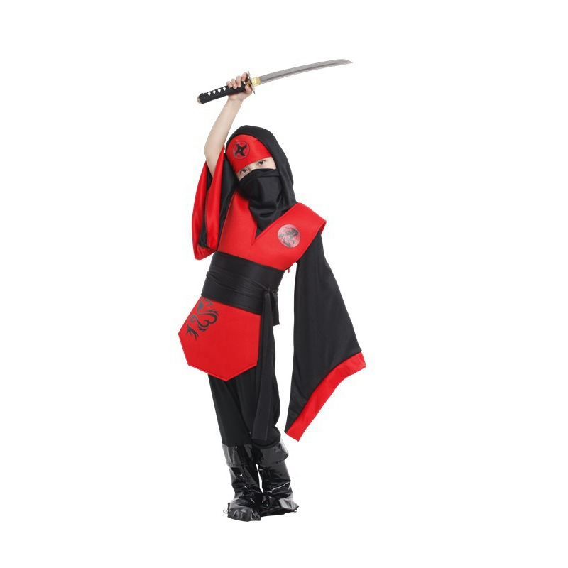 Halloween Stage Property Ninja Cosplay Costume For Kids Christmas Party Dress Performance Clothing Children Girl Jumpsuits YW012