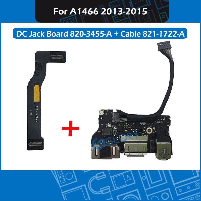 Плата разъема I/O для ноутбука, USB, аудио, с кабелем, 820-3455-A, 821-1722-A для Apple Macbook Air, 13,3