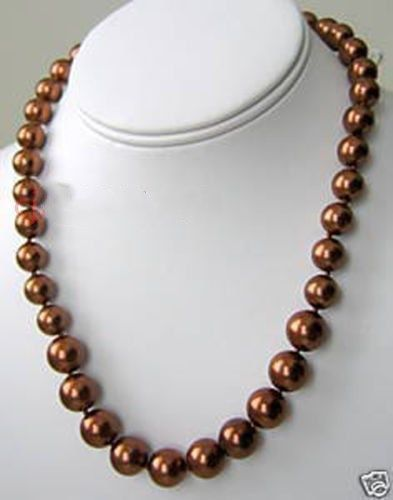 elegant 10-11 mm chocolate south sea pearl necklace 20 inch 14k claspelegant 10-11 mm chocolate south sea pearl necklace 20 inch 14k clasp
